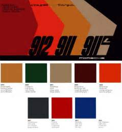 Porsche 911 Colors By Year 912 911 1968 Colour Chart This Obsession Is Getting