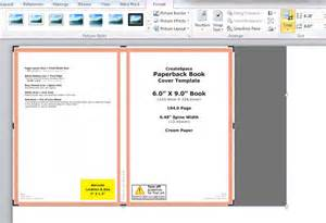 Word Book Cover Template by How To Make A Print Book Cover In Microsoft Word For