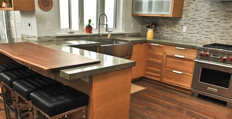 Cheng Countertops by Concrete And Live Edge Walnut Countertop By Yves St Hilaire Cheng Concrete Exchange