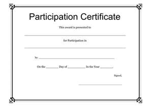 participation certificate templates free certificates free business letter templates and
