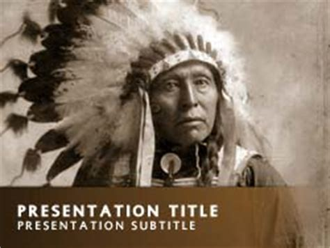 Royalty Free Native American Powerpoint Template In Orange American Indian Powerpoint Template