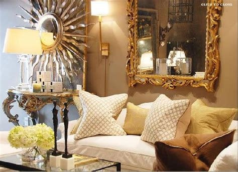 gold and living room ideas gold rococo mirror transitional living room