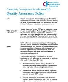 quality assurance policy template quality assurance policy templates word excel sles