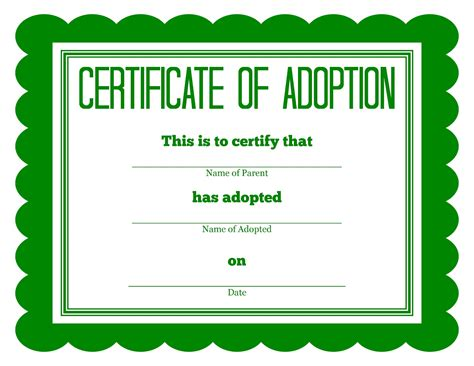 more stuffed animal adoption certificates