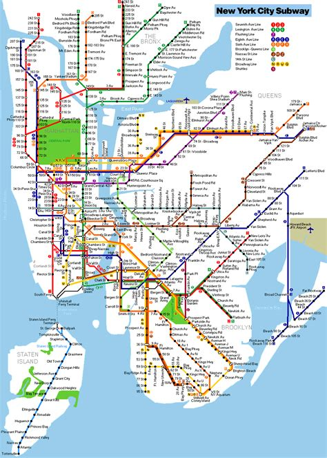 metro map nyc subways xkcd