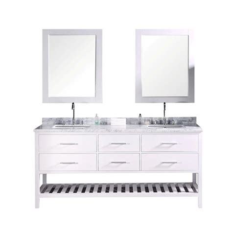 design element london 72 in w x 22 in d double vanity in design element london 72 in w x 22 in d vanity in pearl
