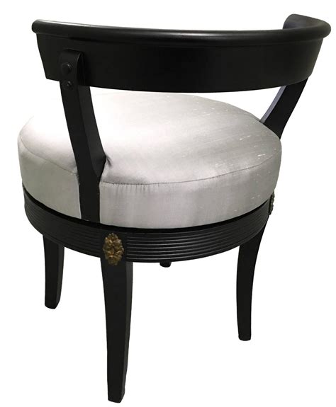 Vanity Stool Black by Regency Style Black Swivel Vanity Stool At 1stdibs