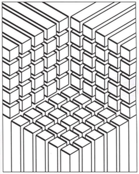illusions coloring pages printable modern patterns optical botanical circular linear