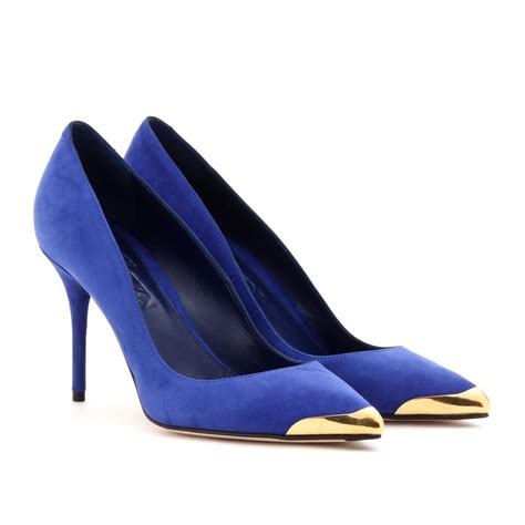 royal blue suede mcqueen suede pumps in blue royal blue lyst