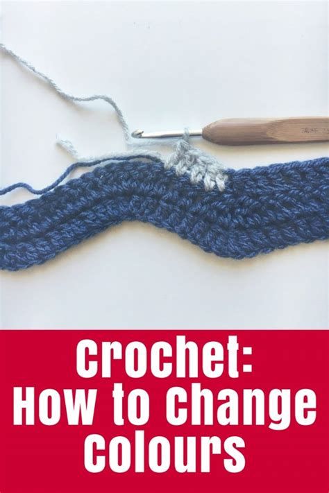 how to change colors crochet crochet how to change colours the crafty mummy