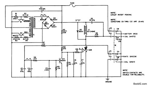 capacitor discharge ignition circuit basic circuit circuit diagram seekic