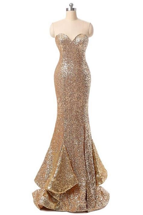 Handmade Evening Dresses - handmade prom dresses sweetheart sequin shiny prom