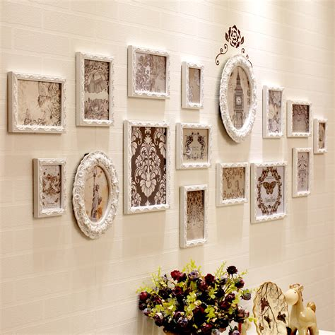photo collage set european style 16pcs set wooden photo frame set photo