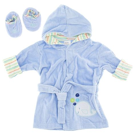 toddler bathrobe and slippers blue terry infant bath robe with slippers for baby boys