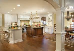 traditional kitchen islands kitchen addition with two large islands and built ins