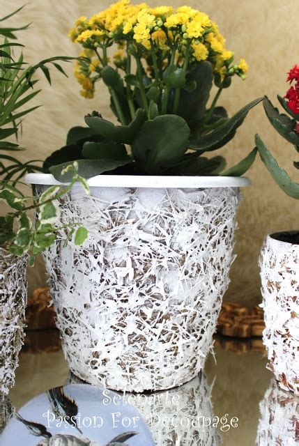How To Decorate A Pot by Selenarte For Decoupage Summer Diy Plastic