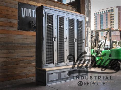 entryway lockers with bench hand crafted vintage industrial locker bookcase mudroom entryway bench by vintage