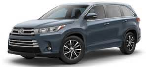 toyota highlander colors 2017 toyota highlander exterior color options