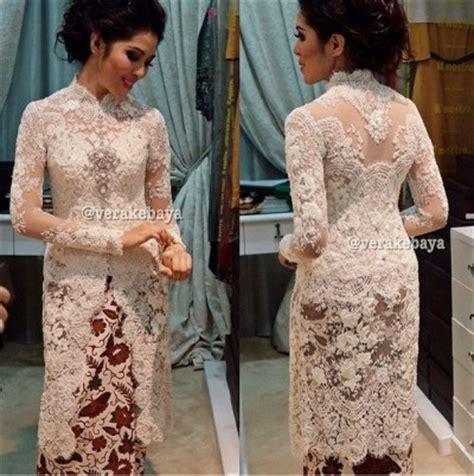 contoh model baju kebaya pengantin modern elegan terbaru