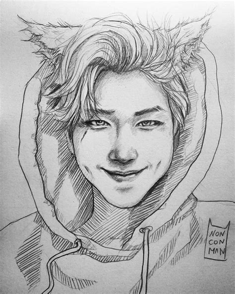 Kpop Sketches by Why Are So Omg Rapmon