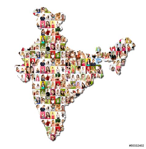 Dining Room Wall Quotes portrait of a lot of people map of india wall sticker
