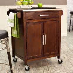 kitchen islands carts belham living espresso mid size kitchen island with stainless steel top kitchen islands and