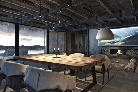 rustic industrial home decor rustic dining table interior design ideas