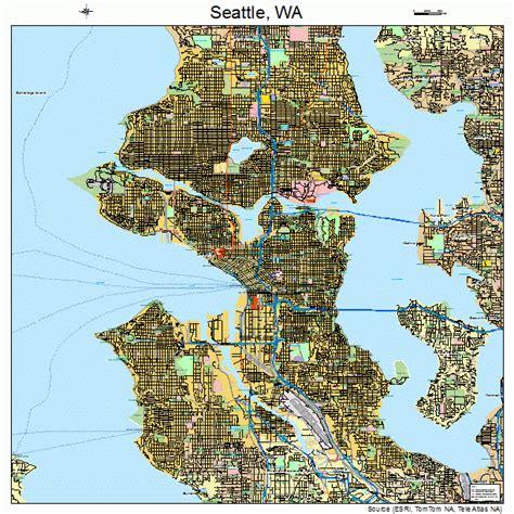 seattle washington map seattle washington map images