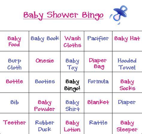 printable bingo instructions all new baby shower bingo game