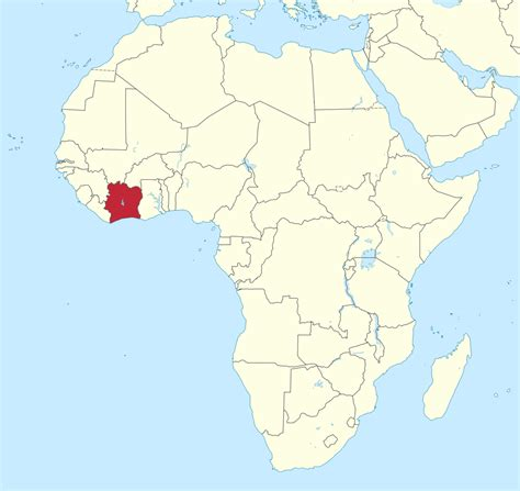 ivory coast on the map ivory coast africa map