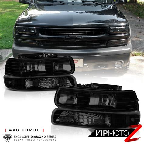 how make cars 2002 chevrolet tahoe spare parts catalogs 1999 2002 chevy silverado 2000 2006 suburban tahoe dark smoke headlights ls 7426547841891