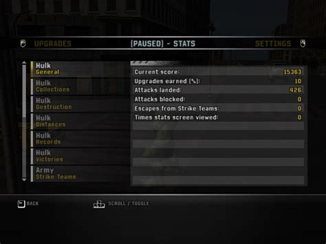 match incredible stats and the incredible hulk screenshots for windows mobygames