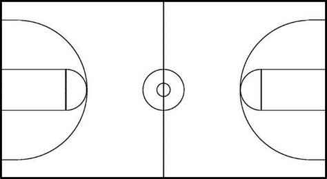 best photos of blank basketball court diagram blank