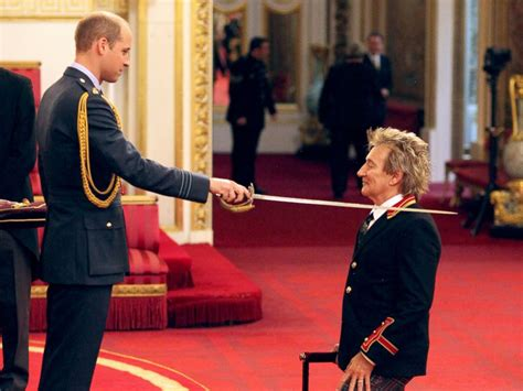 rod stewart knighted by prince william abc news