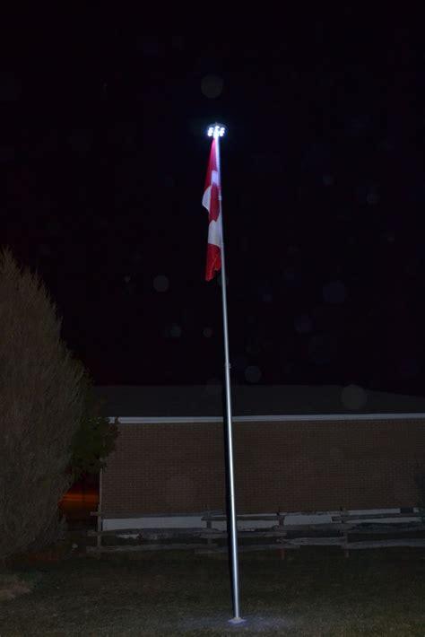 telescoping flag pole with solar light ontario flag pole march 2012