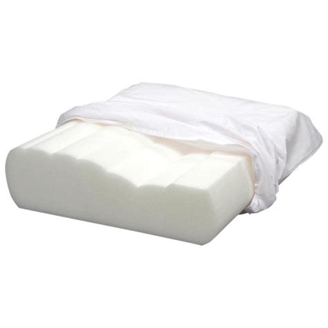 Orthopedic Pillows by Bodyform Orthopedic Curved Wave Foam Pillow White