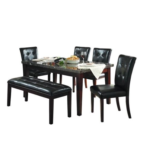 trent home decatur 6 dining table set in espresso