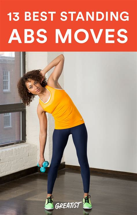 the 13 best abs exercises you do standing up self improvement abs workout routines