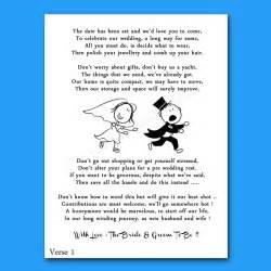 Funny wedding poems wedding ideas