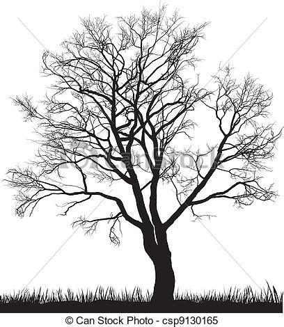 clipart inverno clipart vettoriali di albero inverno noce vettore