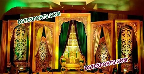 Indian Wedding Backdrop by Indian Wedding Carved Backdrop Panel