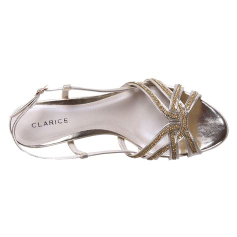 sandal heels cheap new clarice womens wedge rhinestone wedding shoes dress