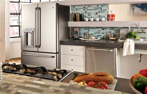 Kitchen Cabinets Microwave by Stainless Steel Appliance Design For A Modern Kitchen Ge