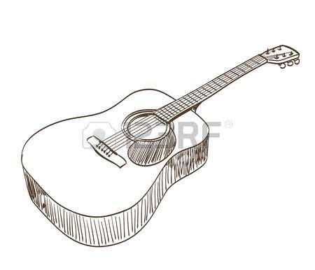 Collection of Guitarra Acustica Dibujo Www Pixshark Com Images ...