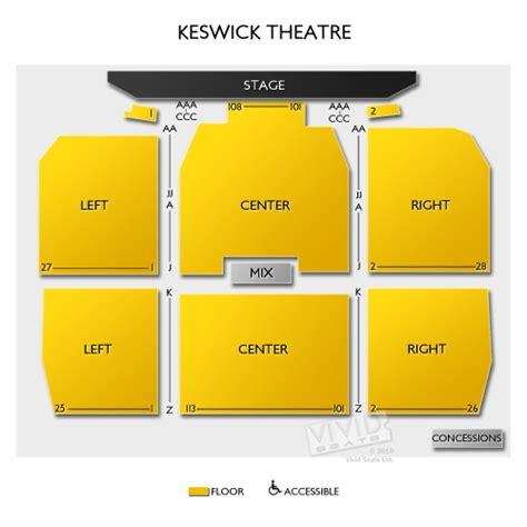 keswick theater seating keswick theatre seating chart seats