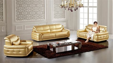 marble dining room sets  sale metallic leather sofa gold leather sofa set interior designs