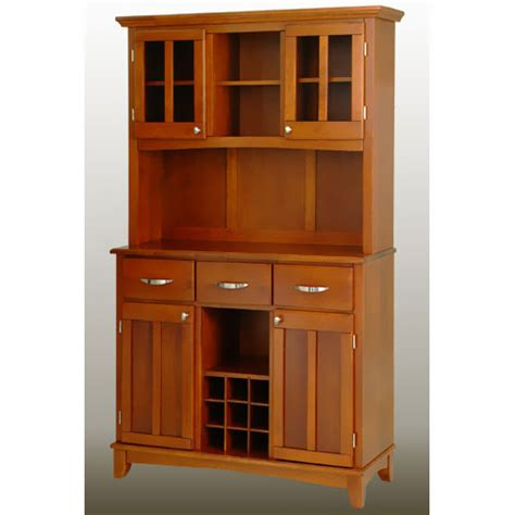 Home Styles Large Buffet With Two Glass Door Hutch Buffet Glass Doors