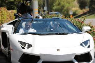 Tyga Lamborghini Exclusive Rapper Tyga Fills Up His Lamborghini At A