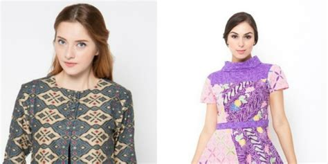 Baju Batik Kerja Wanita Zalora 31 model baju batik modern terbaru co id