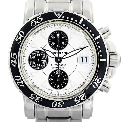 montblanc meisterstruck 7034 chronograph white mens